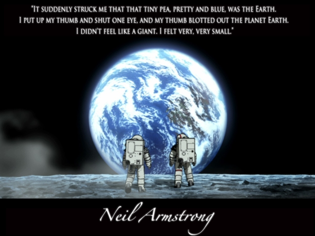 Astronouts and earth