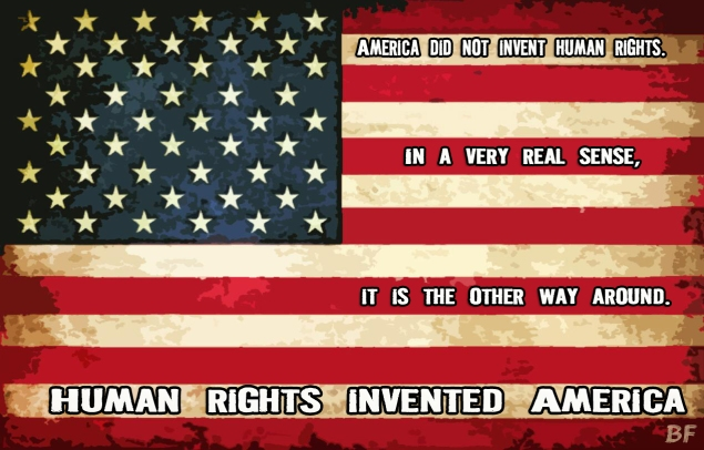 Human rights invented america