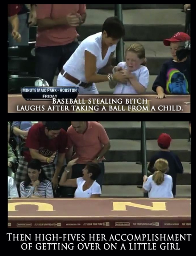 Baseball stealing bitch