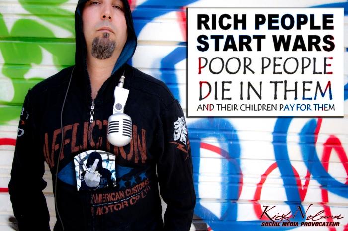 Rich people start wars